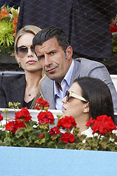 May 12, 2019 - Madrid, Spain - Helen Svedin,  Luis Figo  attend the men's final during day 9 of the Mutua Madrid Open at La Caja Magica on May 12, 2019 in Madrid, Spain. (Credit Image: © Oscar Gonzalez/NurPhoto via ZUMA Press)
