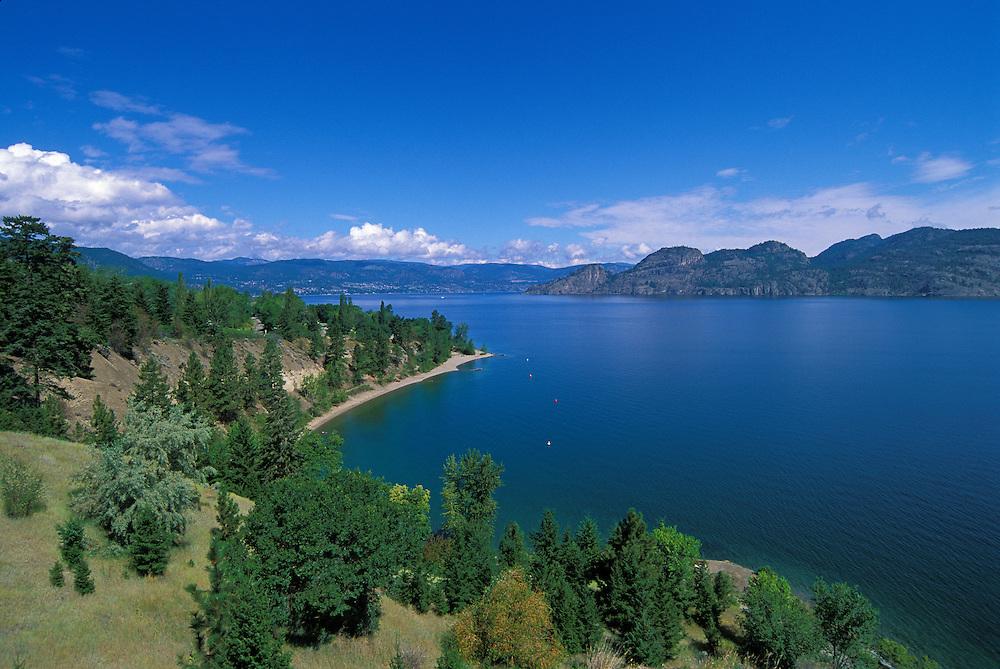 Okanagan Lake between Summerland and Peachland; Okanagan Valley, British Columbia, Canada.