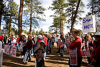 Approximately 120 people attended the Rally to Restore Sanity, Evergreen,CO