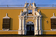 PERU, TRUJILLO a colonial city on Peru's north coast; colonial mansions surrounding the  Plaza de Armas in the heart of the city