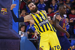 December 8, 2017 - Barcelona, Catalonia, Spain - Luigi Datome and Rakim Sanders during the match between FC Barcelona v Fenerbahce corresponding to the week 11 of the basketball Euroleague, in Barcelona, on December 08, 2017. (Credit Image: © Urbanandsport/NurPhoto via ZUMA Press)