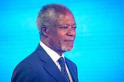 Congres over waterinnovatie Making Waves, op de Afsluitdijk.<br /> <br /> Congress on Water Innovation Making Waves, at the Afsluitdijk.<br /> <br /> Op de foto / On the photo:  Voormalig secretaris-generaal van de Verenigde Naties Kofi Annan houd een toespraak / Former Secretary-General of the United Nations Kofi Annan has a speech