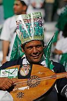 Photo: Glyn Thomas.<br />Tunisia v Saudi Arabia. Group H, FIFA World Cup 2006. 14/06/2006.<br /> A Saudi Arabia fan.