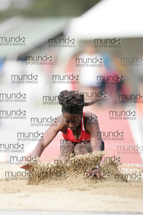 Ottawa, Ontario ---10-08-08--- Labarang competes in the long jump at the 2010 Royal Canadian Legion Youth Track and Field Championships in Ottawa, Ontario August 8, 2010..JULIE ROBINS/Mundo Sport Images.