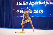 "Arzu Jalilova of Azerbaijan Team during the ""7th tournament city of Desio"", 09 March 2019."