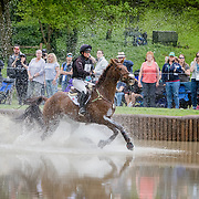 Waylon Roberts (CAN) and Lancaster during the cross-country at the 2019 Land Rover Kentucky Three-Day Event presented by MARS EQUESTRIAN in Lexington, Kentucky
