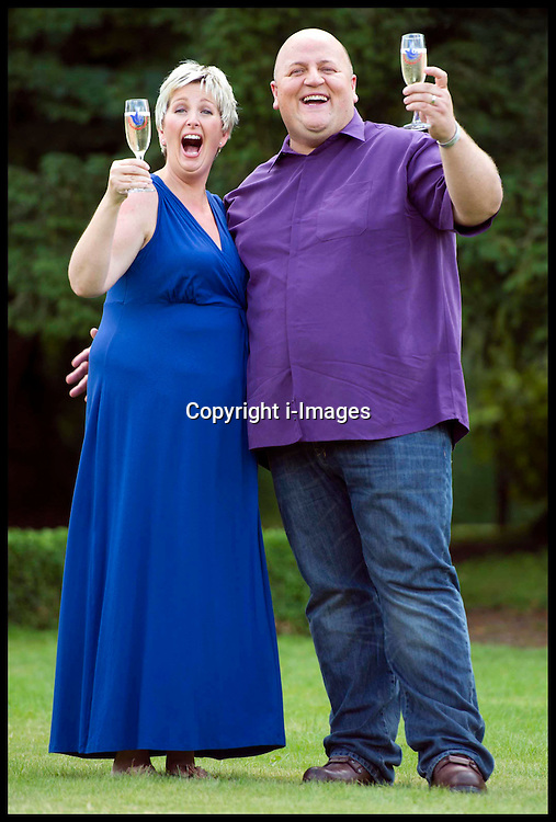 EUROMILLIONS  winners- GILLIAN & ADRIAN BAYFORD from Haverhill, Suffolk, CELEBRATING THEIR £148,656,000 WIN, Tuesday August 14, 2012. Photo By i-Images