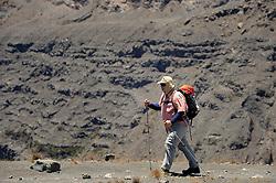 14-10-2008 REPORTAGE: KILIMANJARO CHALLENGE 2008: TANZANIA <br /> De dag naar de top van Mount Meru. Van Saddle Huts (3570m) naar Socialist Peak (4562m) terug naar Miriakamba Huts (2570m). De Kilimanjaro Challenge van de BvdGf.<br /> ©2008-FotoHoogendoorn.nl