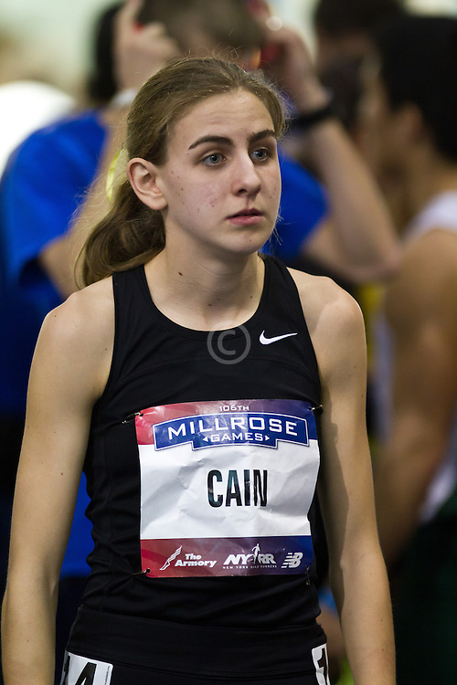 Millrose Games indoor track and field: women's mile, Mary Cain, 16 years old,