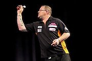 Steve West during the 2016 Gibraltar Darts Trophy at the Victoria Stadium, Gibraltar on 6 May 2016. Photo by Shane Healey.