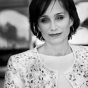 "Black & White Portrait ""Kristin Scott Thomas"" during the 66th Annual Cannes Film Festival"