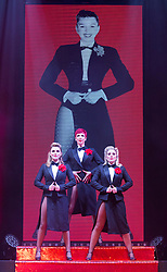"© Licensed to London News Pictures. 17/06/2015. London, UK. L-R: Georgina Hagen, Rachel Stanley and Louise Dearman. UK premiere of ""Judy - The Songbook of Judy Garland"" - a show celebrating the classic songs of Judy Garland - opens at the New Wimbledon Theatre, London before a UK tour. The show runs from 16 to 20 June 2015. Photo credit : Bettina Strenske/LNP"