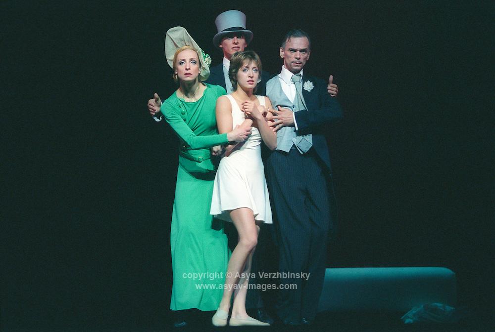 (clockwise from left): Ilze Liepa-Lady Capulet, Georgy Garaskin-Paris, Viktor Baryshkin-Lord Capulet, Anastasia Meskova-Juliet) Bolshoi Ballet in Romeo and Juliet. Music: Serge Prokofiev