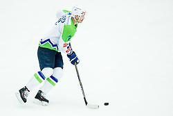 Ziga Pavlin of Slovenia during ice-hockey friendly match between National teams of Slovenia and Japan, on April 10, 2015 in Arena Podmezakla, Jesenice, Slovenia. Photo by Vid Ponikvar / Sportida