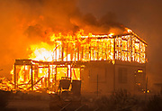 August 16, 2016 - California, U.S - A home burns off of Highway 138 as the Blue Cut Fire rages through San Bernardino County Tuesday. The fire has scorched at least 30,000 acres and forced 82,000 people to evacuate their homes in San Bernardino County. <br /> ©Exclusivepix Media