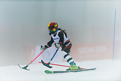 PUEYO MARIMON Ursula competing in the Alpine Skiing Super Combined Slalom at the 2014 Sochi Winter Paralympic Games, Russia