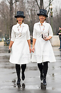 Sisters in White Dresses, Outside Chanel FW2015
