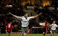 Photo: Leigh Quinnell.<br /> AFC Bournemouth v Bristol City. Coca Cola League 1. 26/09/2006. Phil Jevons celebrates his goal for Bristol City.
