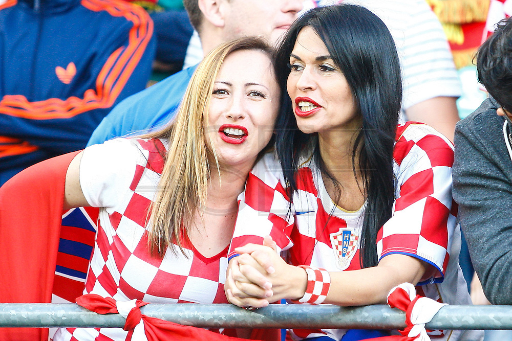 LENS, FRANCE, 06.25.2016 - CROATIA-PORTUGAL - Croatia's cheerleaders during the match between Croatia and Portugal by the 8th-finals of Euro 2016 in Lens in France on Saturday, 25
