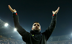 November 7, 2018 - Naples, Italy - SSC Napoli - Paris Saint-Germain : UEFA Champions League Group C .Lorenzo Insigne of Napoli greeting the supporters at San Paolo Stadium in Naples, Italy on November 6, 2018. (Credit Image: © Matteo Ciambelli/NurPhoto via ZUMA Press)