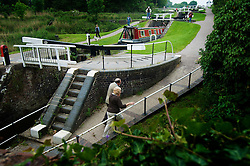 Foxton Locks on the Grand Union Canal, Leicestershire, England, UK.