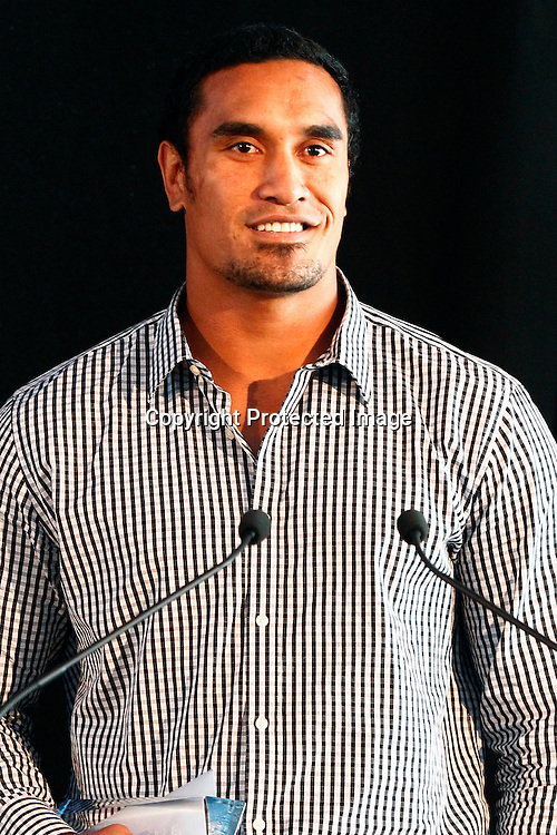 Jerome Kaino at the Sport Auckland 2011 Sporting Excellence Awards, Alexandra Race Course, Auckland, New Zealand. Wednesday 7 December 2011. Photo: Ella Brockelsby/photosport.co.nz