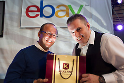 Repro Free: 26/09/2013<br /> Kilkenny today announced it has partnered with eBay, one of the world&rsquo;s largest online marketplaces, allowing Kilkenny to expand into key international markets. &nbsp;Pictured at the announcement was (Left to right) Jean Marc Codsi, Vice President of Customer Experience for eBay Europe with Greg O&rsquo;Gorman, Kilkenny Marketing Manager. The partnership with eBay is an exciting move for Kilkenny, allowing them to expand into key international markets while opening the brand to a wider target audience. Picture Andres Poveda