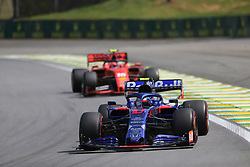 November 17, 2019, Sao Paulo, Brazil: xa9; Photo4 / LaPresse.17/11/2019 Sao Paulo, Brazil.Sport .Grand Prix Formula One Brazil 2019.In the pic: Pierre Gasly (FRA) Scuderia Toro Rosso STR14 and Charles Leclerc (MON) Scuderia Ferrari SF90 (Credit Image: © Photo4/Lapresse via ZUMA Press)