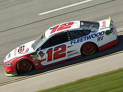 October 14, 2018 - Talladega, AL, U.S. - TALLADEGA, AL - OCTOBER 14: Ryan Blaney, Team Penske, Ford Fusion REV (12) races through the tri-oval during the 1000Bulbs.com 500 on October 14, 2018, at Talladega Superspeedway in Tallageda, AL.(Photo by Jeffrey Vest/Icon Sportswire) (Credit Image: © Jeffrey Vest/Icon SMI via ZUMA Press)