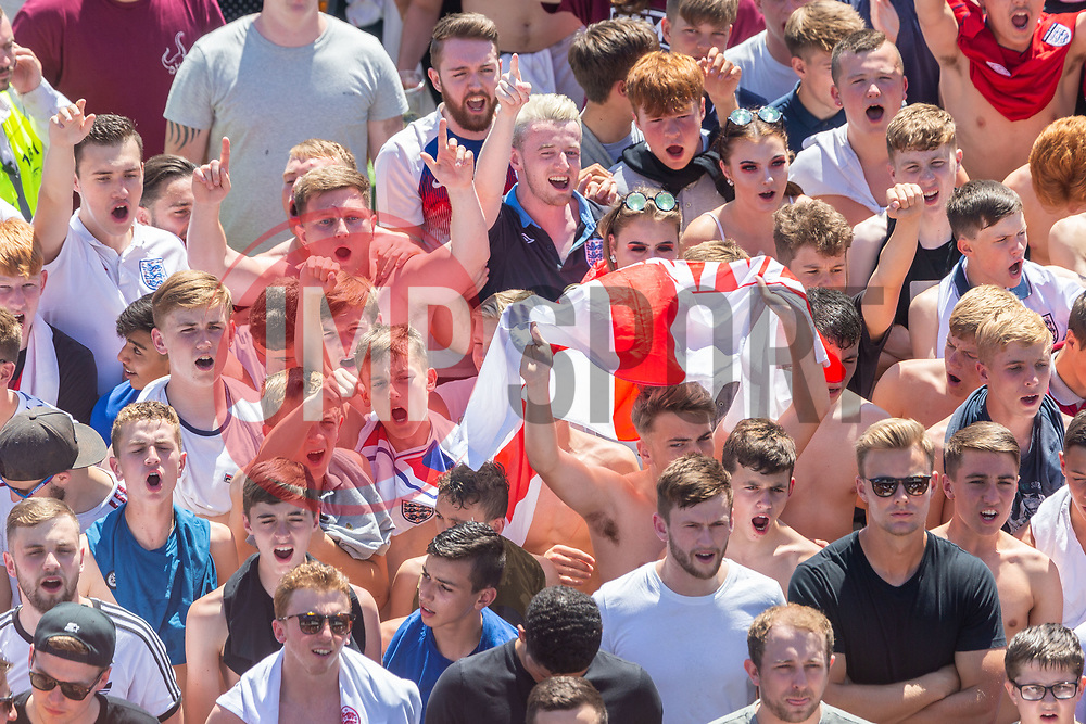 General views of fans during the game  - Ryan Hiscott/JMP - 07/07/2018 - FOOTBALL - Ashton Gate - Bristol, England - Sweden v England, World Cup Quarter Final, World Cup Village at Ashton Gate