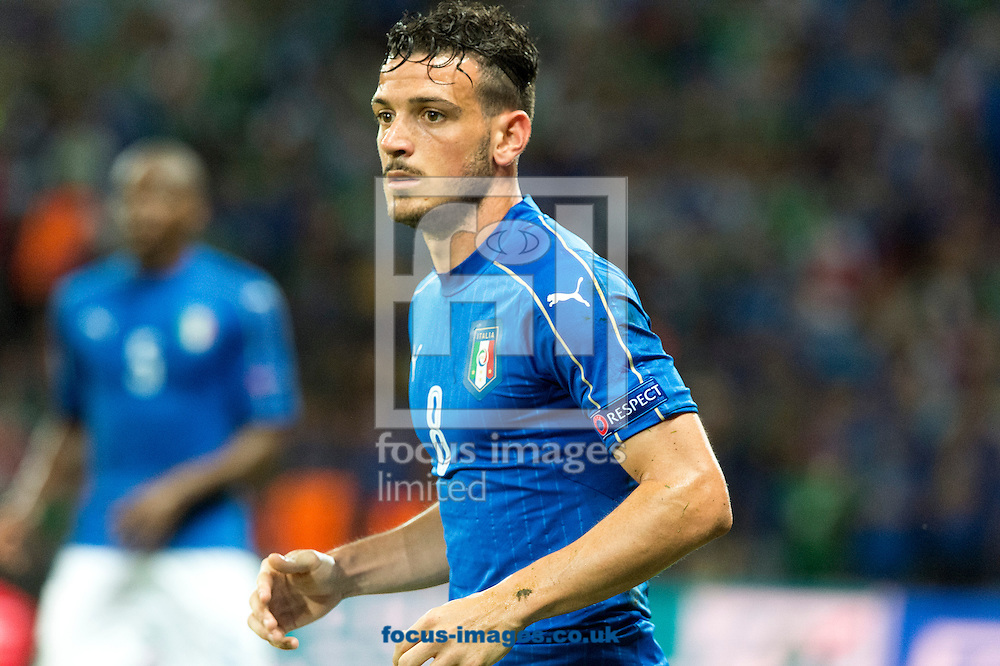 Alessandro Florenzi of Italy in action during the UEFA Euro 2016 match at Stade Pierre-Mauroy, Lille<br /> Picture by Anthony Stanley/Focus Images Ltd 07833 396363<br /> 22/06/2016