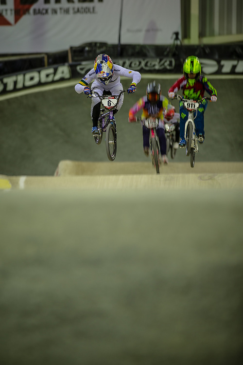 #6 (SAKAKIBARA Saya) AUS during practice at the 2019 UCI BMX Supercross World Cup in Manchester, Great Britain