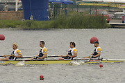 Poznan, POLAND.  2006, FISA, Rowing World Cup, Men's four, Gold Medallist, GRB M4-, Bow Alex PARTRIDGE, Steve  WILLIAMS, Peter REED, Andy TWIGGS HODGE,  'Malta Regatta course;  Poznan POLAND, Sat. 17.06.2006. © Peter Spurrier   ....[Mandatory Credit Peter Spurrier/ Intersport Images] Rowing Course:Malta Rowing Course, Poznan, POLAND