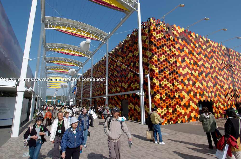 View of Spanish Pavilion at World Expo 2005 at Aichi in Japan