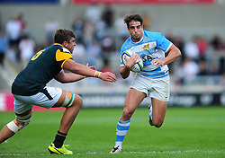 Juan Cruz Mallia of Argentina U20 in possession - Mandatory byline: Patrick Khachfe/JMP - 07966 386802 - 25/06/2016 - RUGBY UNION - AJ Bell Stadium - Manchester, England - Argentina U20 v South Africa U20 - World Rugby U20 Championship 2016 3rd Place Play-Off.