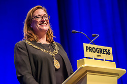 Pictured: Glasgow's Lord Provost Eva Bolander<br /> The members of the SNP gathered in the Scottish Events Centre in Glasgow for their annual conference.<br /> Ger Harley | EEm 8 October 2017