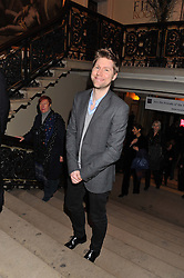 CHRISTOPHER BAILEY at a private view to celebrate the opening of the Royal Academy's exhibition of work by David Hockney held at The Royal Academy, Burlington House, Piccadilly, London on 17th January 2012.