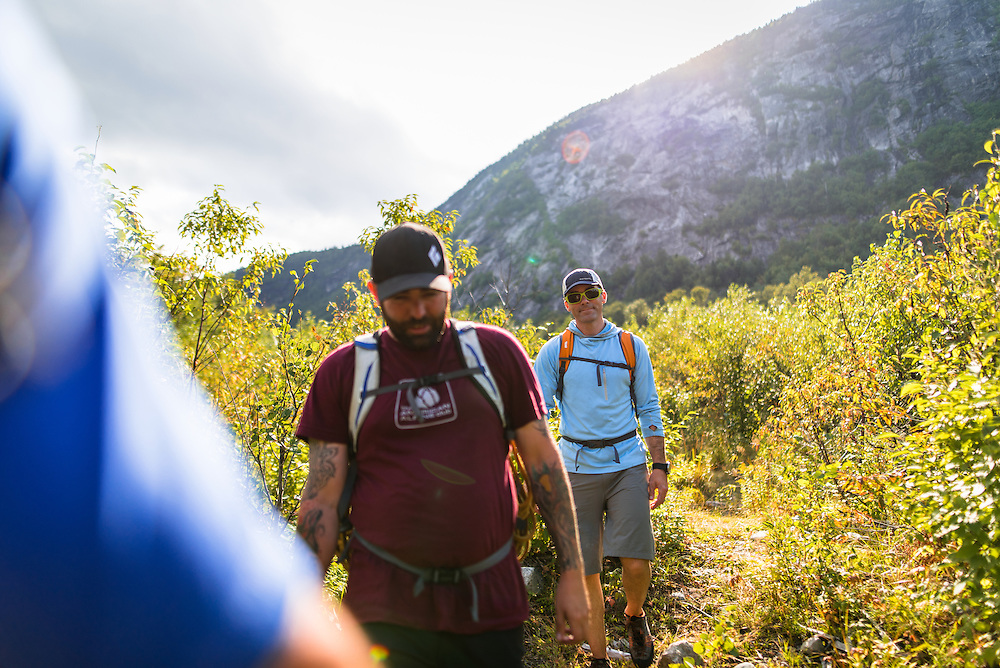Kevin and Matty hiking out from North Baldcap Mountain