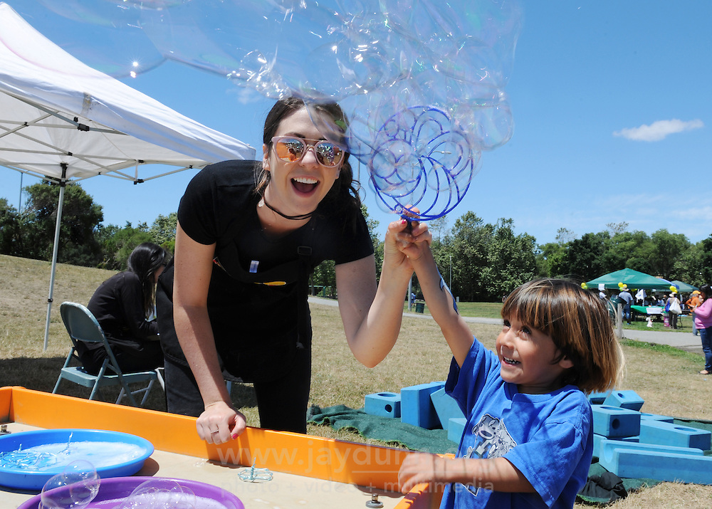 Kids enjoy the annual Family Fun Day at Natividad Creek Park on Sunday, May 22nd. The event celebrates the mental health of children and families.