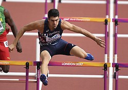 August 12, 2017 - London, England - LONDON , UNITED KINGDOM  - AUGUST 12 : Bastien Auzeil of France pictured during 110 M hurdles heat 1 at the16th IAAF World Athletics championships from august 4 till 13, 2017 in London ,United Kingdom, 12/08/2017 (Credit Image: © Panoramic via ZUMA Press)
