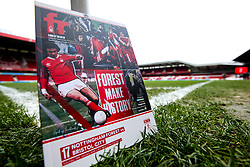 A general view of The City Ground, home to Nottingham Forest with the match day programme - Mandatory by-line: Robbie Stephenson/JMP - 19/01/2019 - FOOTBALL - The City Ground - Nottingham, England - Nottingham Forest v Bristol City - Sky Bet Championship