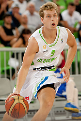 Jaka Blazic of Slovenia during friendly basketball match between National teams of Slovenia and Serbia of Adecco Ex-Yu Cup 2012 as part of exhibition games 2012, on August 5, 2012, in Arena Stozice, Ljubljana, Slovenia. (Photo by Matic Klansek Velej / Sportida)