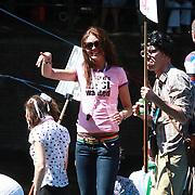 NLD/Amsterdam/20070804 - Gaypride Canalparade 2007, Holland Next topmodel, Sylvia Geersen