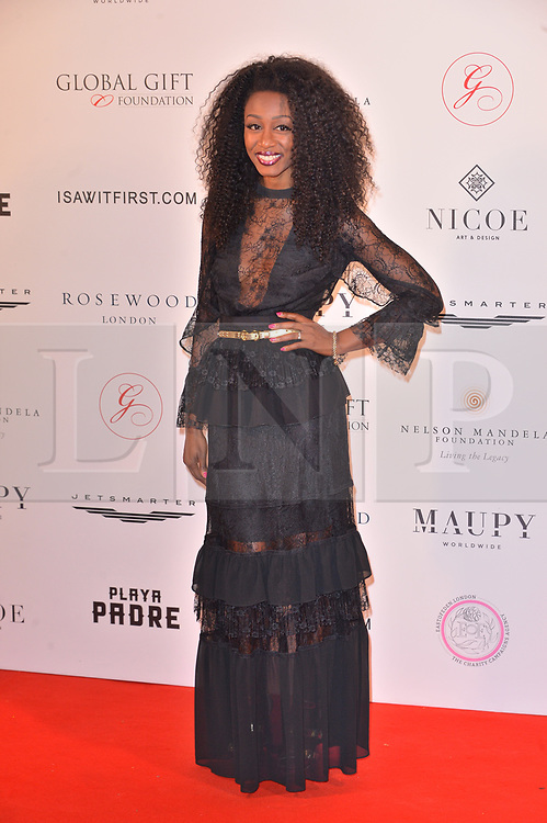 © Licensed to London News Pictures. 24/04/2018. London, UK. BEVERLEY KNIGHT attends The Global Gift Foundation Nelson Mandela Centenary Dinner at Rosewood London. Photo credit: Ray Tang/LNP