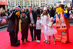 (L to R) Harvey Price, Kieran Hayler, Junior Andre, Katie Price and Princess Andre attends The Lego Movie VIP film screening of CGI adventure, starring some of Lego's most popular figures, which features the voices of Elizabeth Banks, Chris Pratt, Will Arnett and Morgan Freeman, at Vue West End, London, United Kingdom. Sunday, 9th February 2014. Picture by Nils Jorgensen / i-Images<br /> File Photo - Katie Price is to divorce husband Kieran Hayler after claiming he has been having an affair with her best friend. Photo filed Wednesday 7th May 2014.
