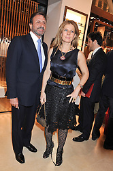 SIR ROCCO & LADY FORTE at the Salvatore Ferragamo Old Bond Street Boutique Store Launch on 5th December 2012.