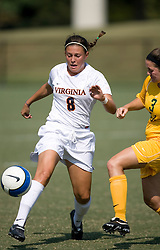 Virginia Cavaliers M/D Alli Fries (8)..The Virginia Cavaliers women's soccer team defeated the William and Mary Tribe 1-0 in double overtime at Klockner Stadium in Charlottesville, VA on September 23, 2007.