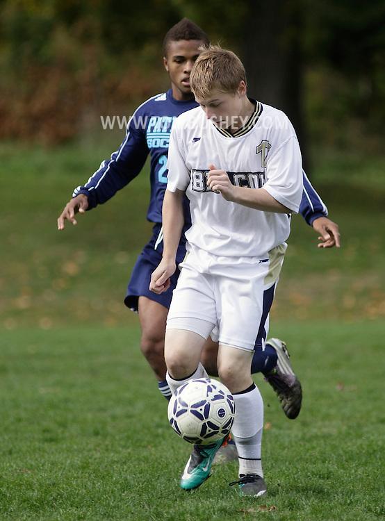 Beacon, New York - John Jay East Fishkill plays Beacon in a high school boys' soccer game on Oct. 16, 2010.