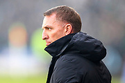 Celtic manager Brendan Rogers ahead of the Betfred Cup Final between Celtic and Aberdeen at Celtic Park, Glasgow, Scotland on 2 December 2018.