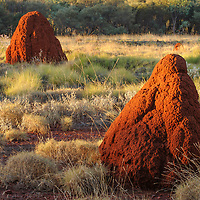 Terrmite mounds in Karijini National Park, Western Australia.